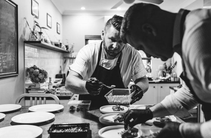 Chef Luke Sutherland and his partner Cameron Croad